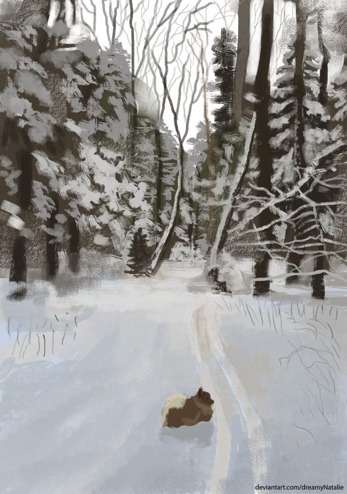 Прогулка в зимнем лесу.  | Author: DreamyNatalie