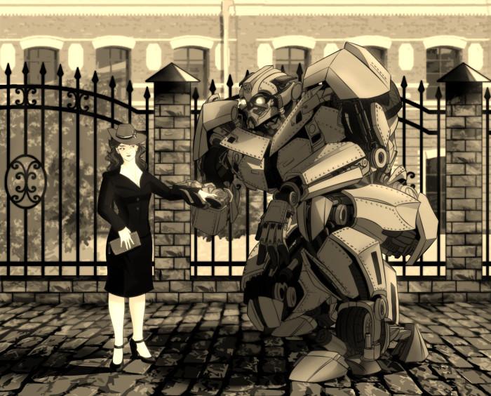 Бамблби в образе ZB-7 и Пегги Картер.  Песня вдохновитель Frank Sinatra - I've got you under my skin  Нарисовано на Фандомную Битву. #peggycarter #bumblebee #transformers #marvel   Author: Клематиста