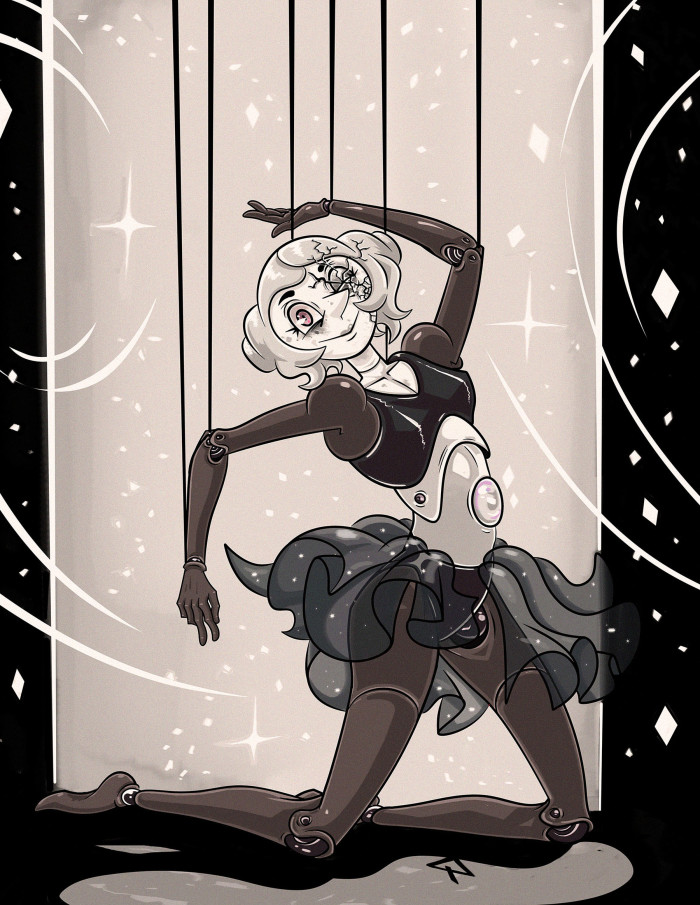 #su #stevenuniverse #whitepearl #white #pear; | Author: Данила Хлуденёв