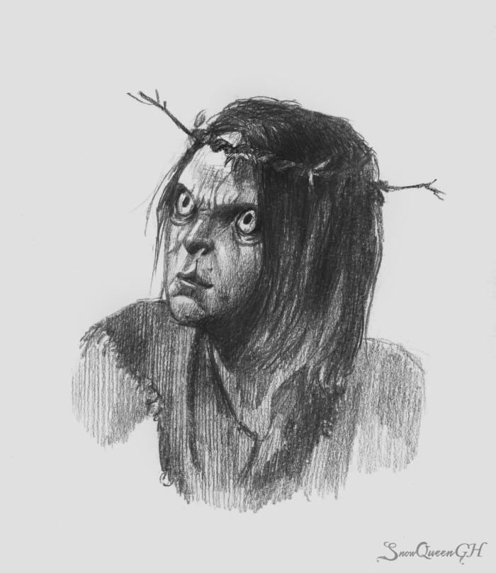 [ бу! :D ] [ мешки под глазами уровень: Ивасик ]  ~~~~~~~~~~~~~~~~~~~~~~~~~~~~  #sketch #скетч #portrait #портрет #ведьмак #thewitcher3 #ивасик | Author: SnowQueenGH