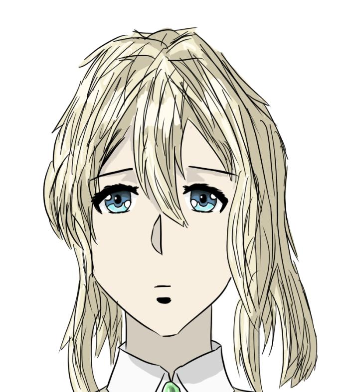Вот начинаю пользоваться гп. #anime #art #вайолет_эвергандер   | Author: kenlxrd