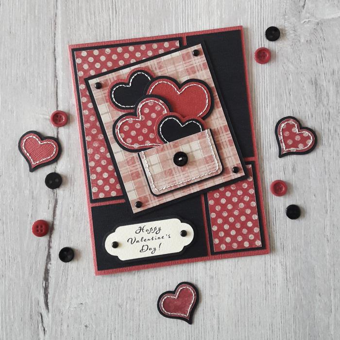 Парочка моих открыток на Валентинов День! )  #Werlioka #Scrapbooking #Postcards | Author: Werlioka