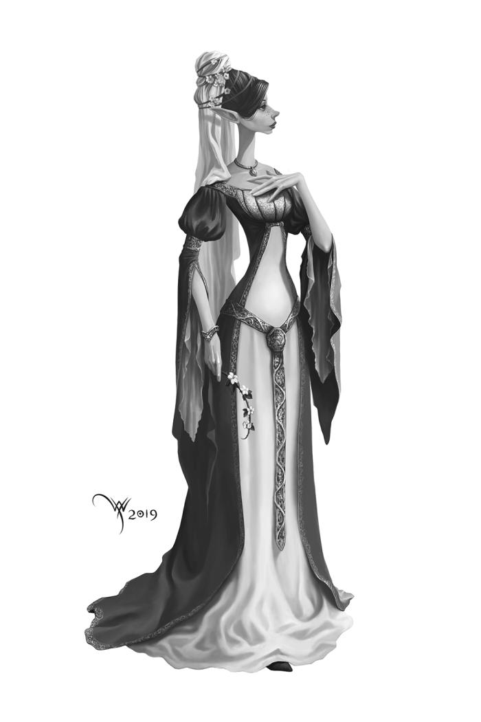 Моя новая персонажка - благородная эльфийка ))  #Werlioka #Elf #Elves #Digital_art | Author: Werlioka