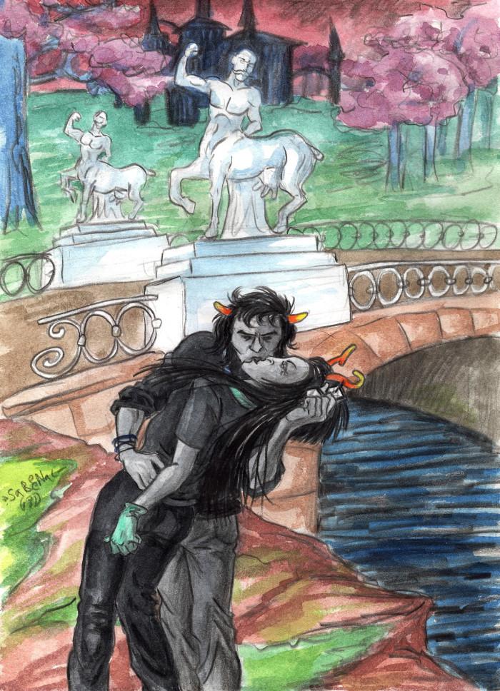 Ариман целует Эпиону   Author: Sareena