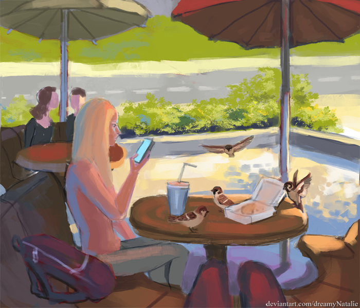 В кафе.  | Author: DreamyNatalie