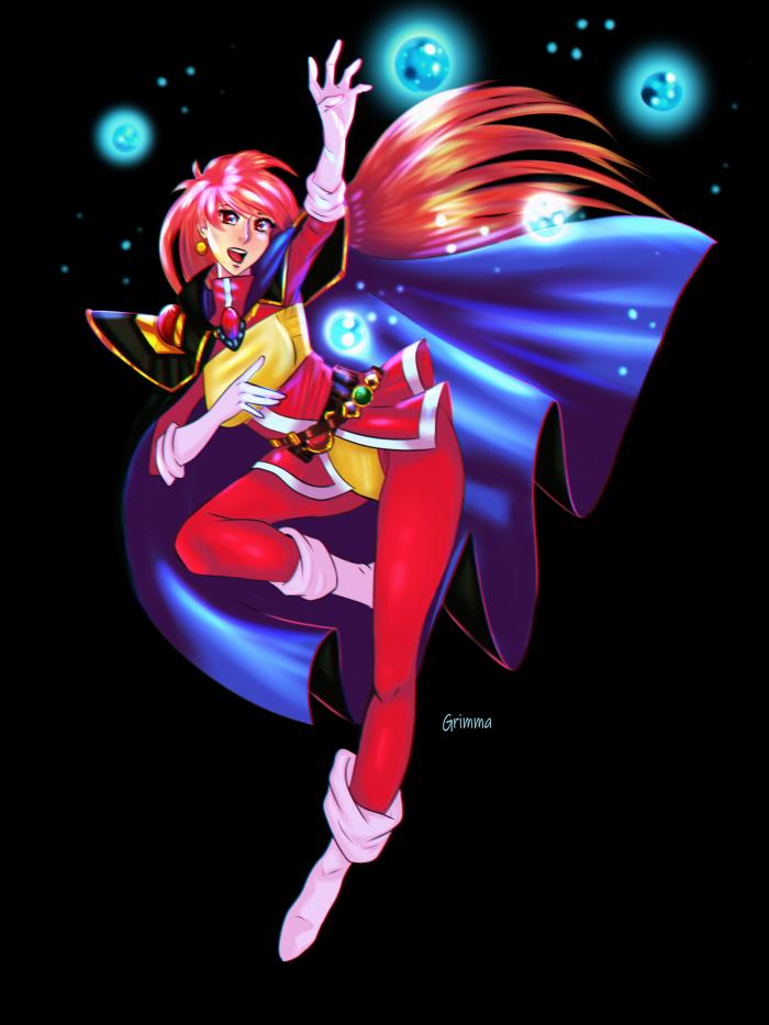 #anime #character #female #magic #redhair #slayers #lina_inverse #fanart #digitalart  | Author: Grimmanko