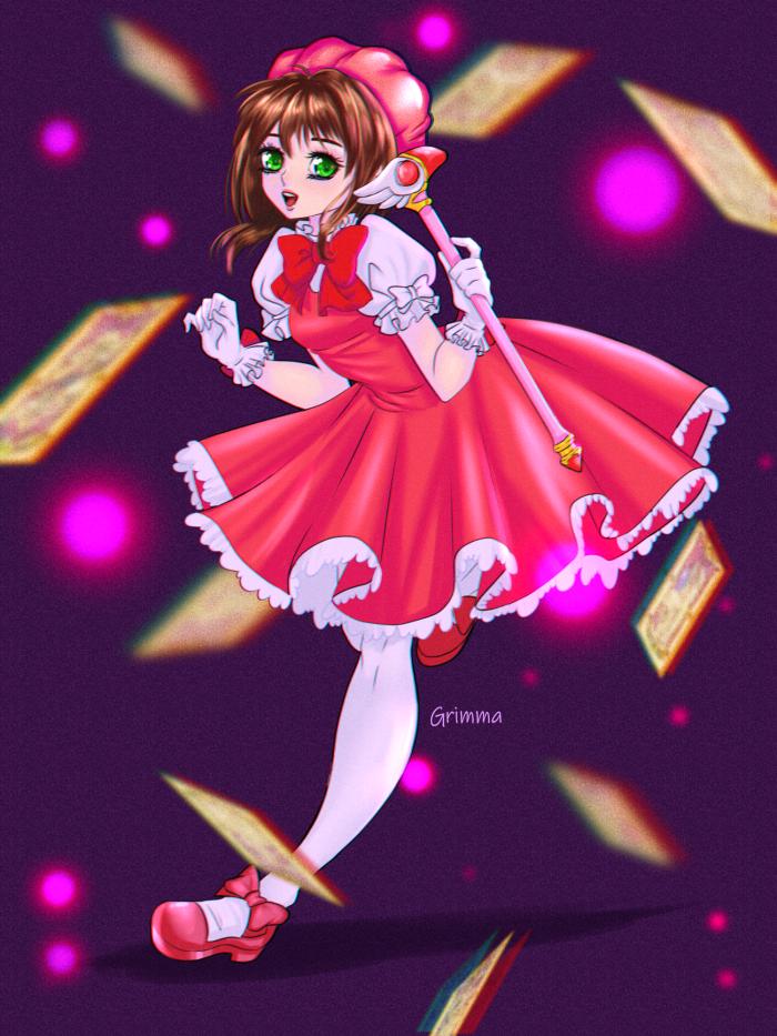 #anime #cardcaptorsakura #character #magicalgirl #sakurakinomoto #fanart #digitalart | Author: Grimmanko