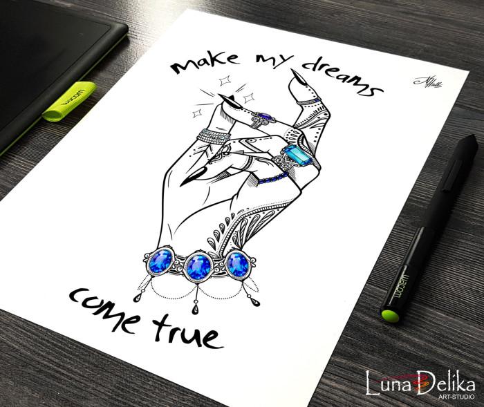 Снова тату-графика на заказ :)  #LunaDelika_Tattoo #TattooDesing #TattooSketch #digitalArt  | Author: Natali Hall