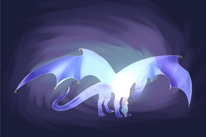 """Нея и стеклянный дракон из визуальной новеллы """"Её звезда"""" авторства Tifiro   Author: Клематиста"""