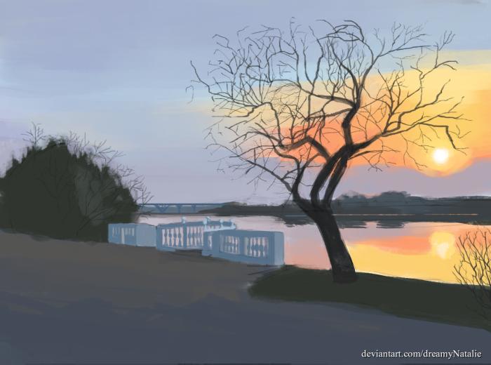 Я давно хотела нарисовать это место, и наконец-то нарисовала! | Author: DreamyNatalie