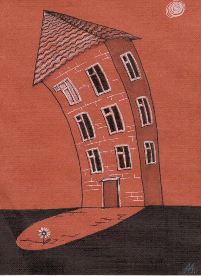 Ночью, когда всё молчит (140*185, бумага, маркеры, карандаш) | Author: Алексей Макаревич
