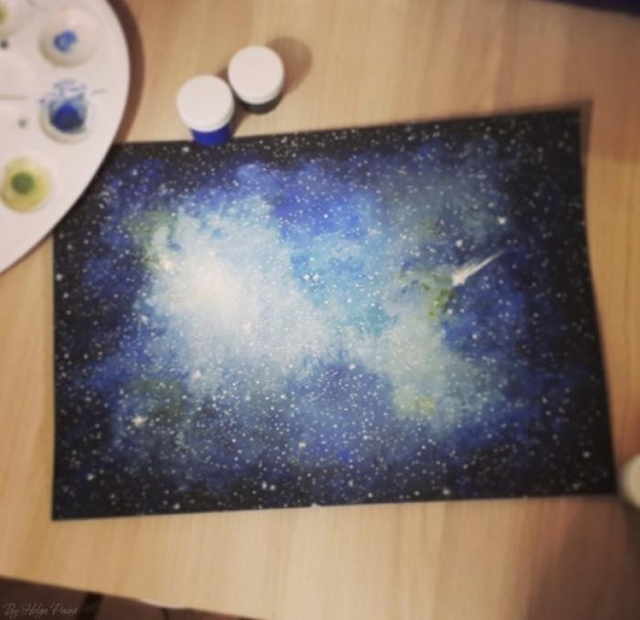 #art #tradicional #space   Author: Helga Paint