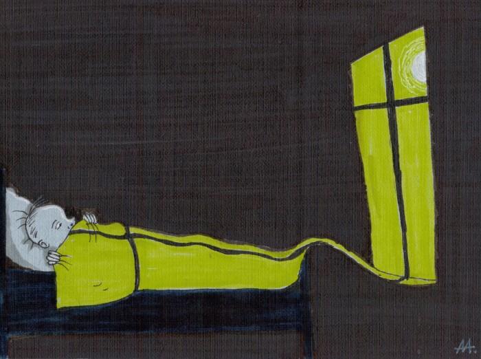 Свет в окне (140*185, бумага, маркеры) | Author: Алексей Макаревич