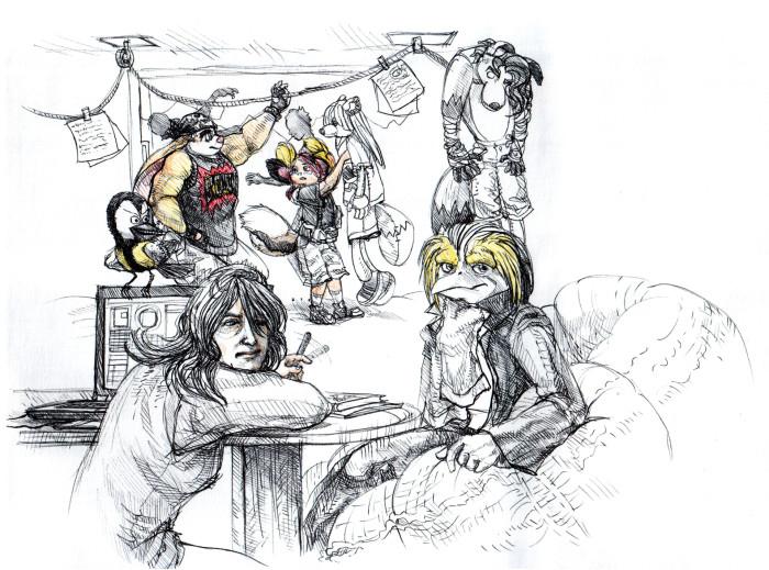 Рисунки, что отослала другу по комиксу | Author: Neutral Demon