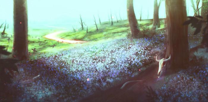 Рисование природы - это точно не мое. Как минимум потому, что выходят задорные приключения дальтоника под пачкой ЛСД. | Author: Kent