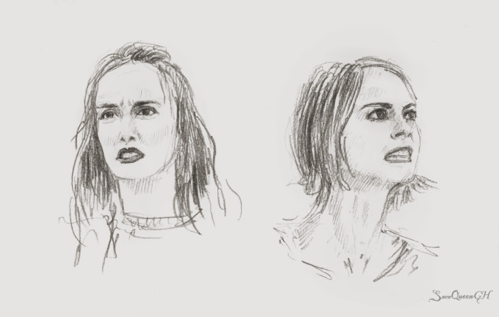 [ День 3-4: confused / angry ]  ~~~~~~~~~~~~~~~~~~~~~~~~~~~~  #sketchtember #sketchtember2019 #leightonmeester #willaholland #sketch #скетч | Author: SnowQueenGH