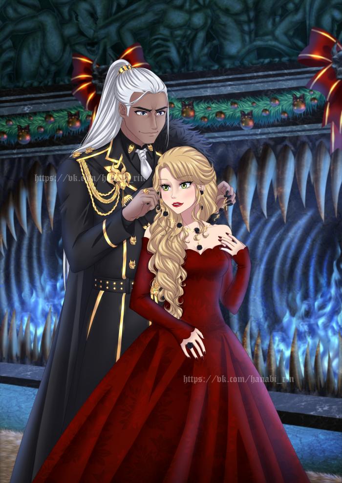 Мои любимые Рэн и Найри.  Ей контраста на волосах очень не хватает)))  | Author: Hanabi-Rin