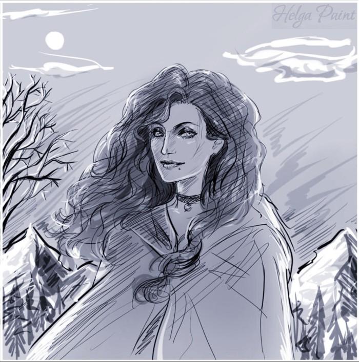 #art #traditional #digital #sketch #fanart #fantasy #painttoolsai #Sapkowski #TheWitcher #Yennefer  | Author: Helga Paint