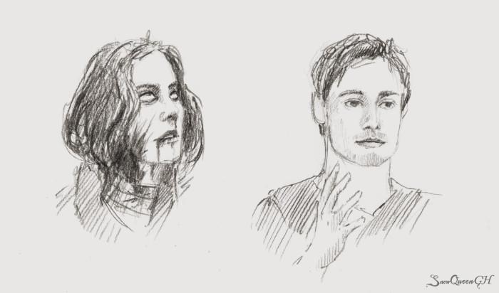 [ День 25-26: nauseous / frustrated ]  ~~~~~~~~~~~~~~~~~~~~~~~~~~~~  #sketchtember #sketchtember2019 #sketch #скетч | Author: SnowQueenGH