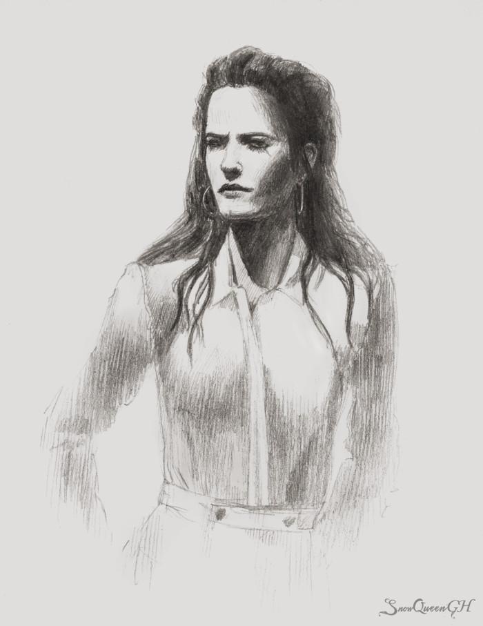 [ мадам с красивой светотенью на скорую руку ]  ~~~~~~~~~~~~~~~~~~~~~~~~~~~~  #sketch #скетч #portrait #портрет #evagreen | Author: SnowQueenGH