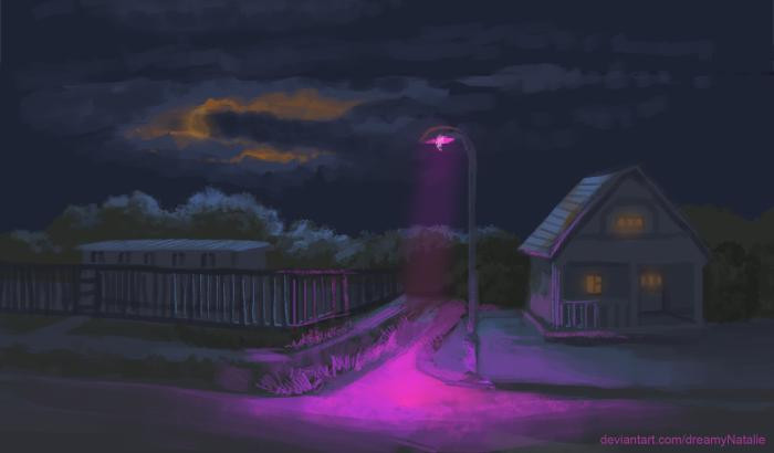 Ночь, улица, фонарь.   Author: DreamyNatalie