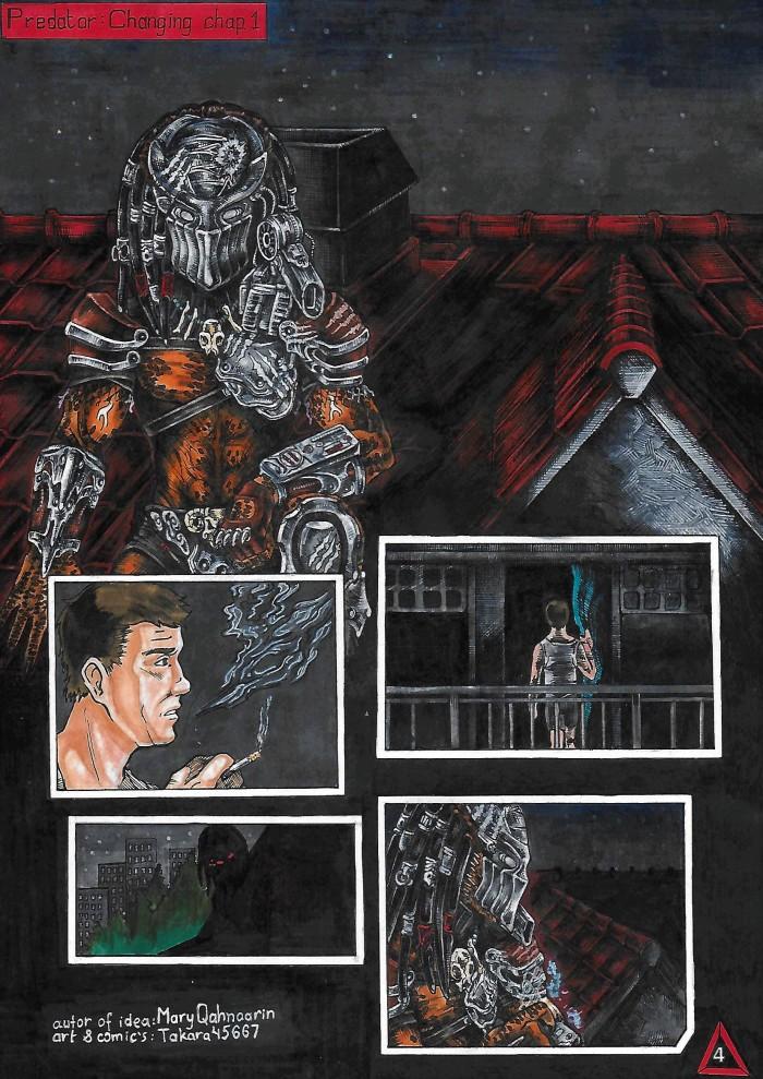 Всем доброго времени суток. И вот наконец-то я закончила рисовать комикс по фанфику от Мария Омелящик . Она дала просто почитать, а я загорелась идеей сделать комикс.  Альбом с комиксом(открываете изображение и читаете) —->https://vk.com/album-147221329_252168098 #predator #predator #yautja #ad'nar #ad_nar #hunter #takara45667 #im_not_lazy | Author: Takara45667