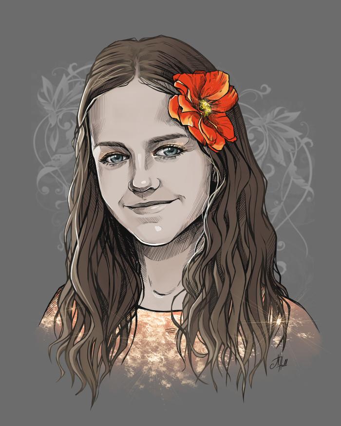 Моя племяшка Даша :) Портрет по заказу её мамы.  #AuthorStyle #StylizedPortrait #OriginalArt #DigitalArt  | Author: Natali Hall