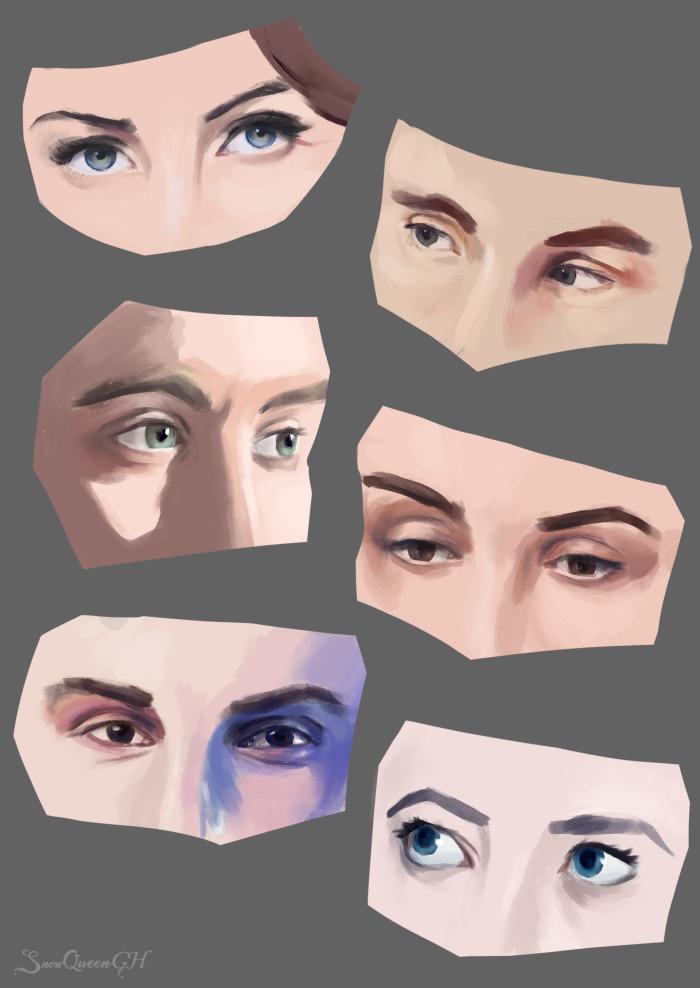 [ скетчи глаз на челлендж от TD ] [ взяла прототипы персонажей LaMafia, потому что люблю их и надо тренироваться ]  ~~~~~~~~~~~~~~~~~~~~~~~~~~~~  #sketch #скетч    Author: SnowQueenGH