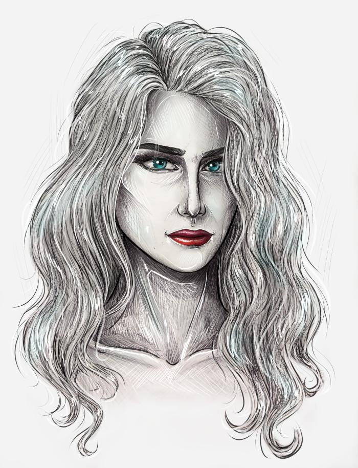 Mary #портрет #девушка #originalcharacter | Author: MissSadRaccoon