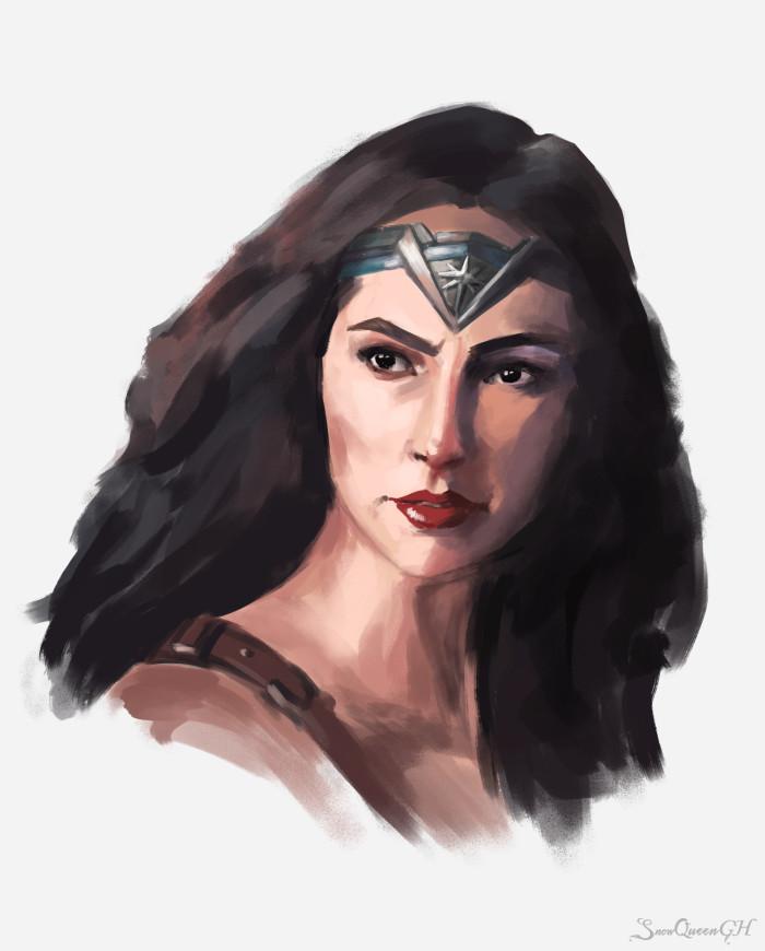 [ Чудо-женщина ] [ 2,5 часа и боль в руке в комплекте ] [ пока что самый быстрый дидж-скетч в моей жизни ]  ~~~~~~~~~~~~~~~~~~~~~~~~~~~~  #portrait #wonderwoman #dc   Author: SnowQueenGH