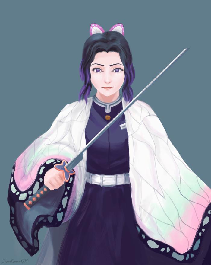 [ Шинобу Кочо ] [ я не умею в аниме, поэтому сегодня у нас реализм ]  ~~~~~~~~~~~~~~~~~~~~~~~~~~~~  #sketch #portrait #kimetsunoyaiba #ShinobuKochou   Author: SnowQueenGH