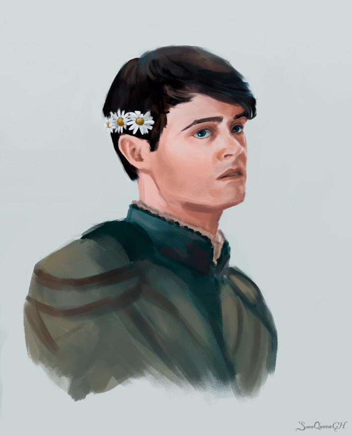 [ sixfanarts №3 - Лютик ] [ грустная булочка с корицей ]  ~~~~~~~~~~~~~~~~~~~~~~~~~~~~  #sixfanarts #sixfanartschallenge #sketch #jaskier #лютик #witcher #ведьмак    Author: SnowQueenGH