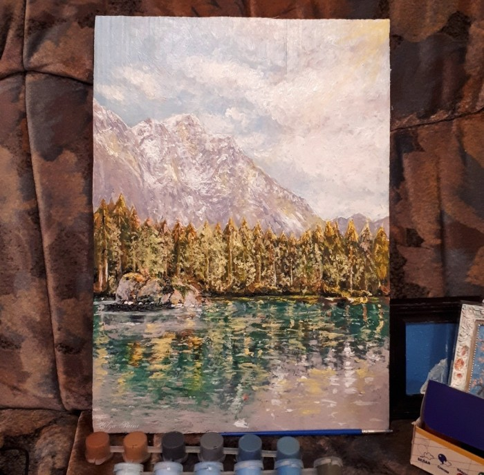 #art #traditional #mountains #nature | Author: Helga Paint