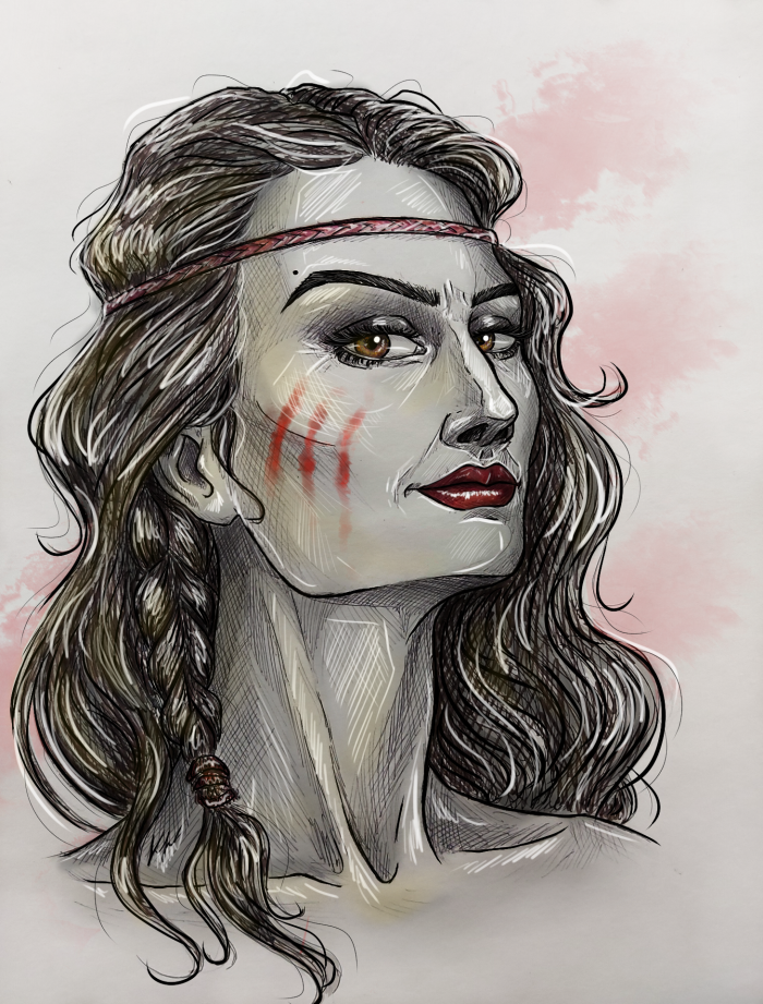 Lucia #portrait #girl #originalcharacter #middleages #warrior | Author: MissSadRaccoon