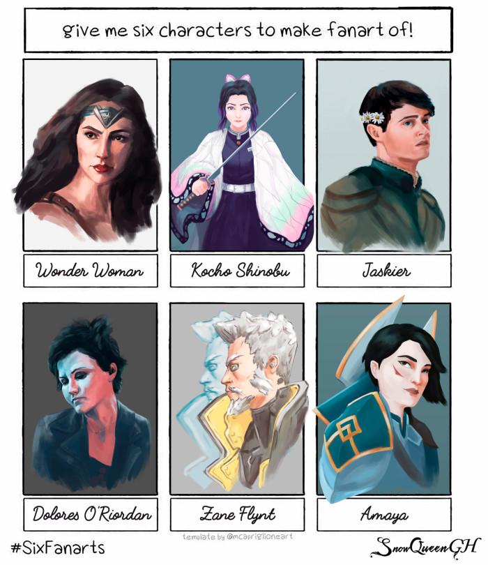 [ тем временем sixfanarts закончен ] [ это было круто и жёстко ]  ~~~~~~~~~~~~~~~~~~~~~~~~~~~~  #sixfanarts #sixfanartschallenge #sketch   Author: SnowQueenGH
