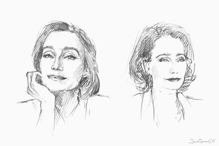 [ рандомные скетчи ]  ~~~~~~~~~~~~~~~~~~~~~~~~~~~~  #sketch #скетч #KristinScottThomas    Author: SnowQueenGH