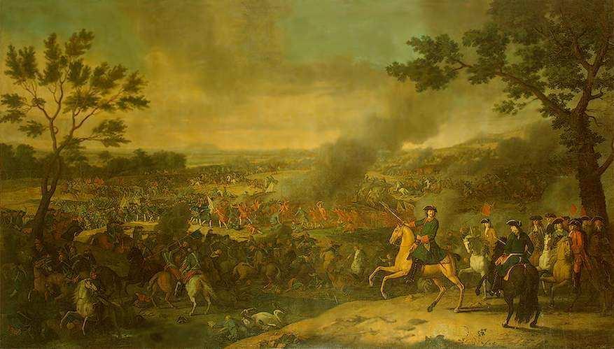 Пётр Великий в Полтавской битве — Каравакк Луи