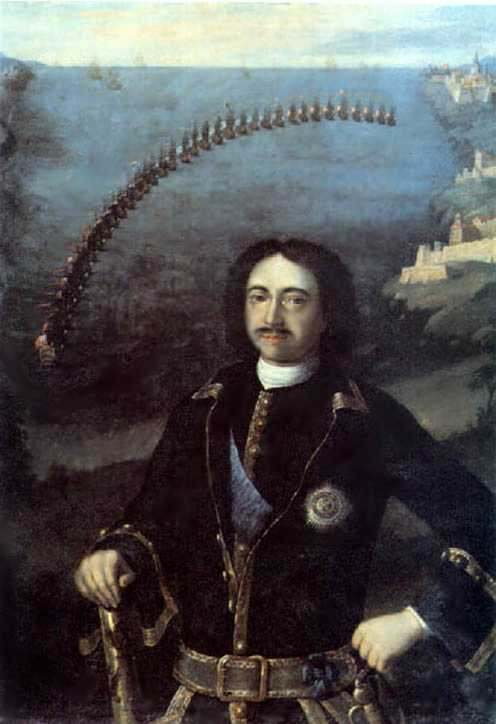 Петр I,командующий 4-мя соединенными флотами в 1716г. — Каравакк Луи