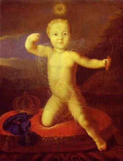 Портрет царевича Петра Петровича в детстве — Каравакк Луи