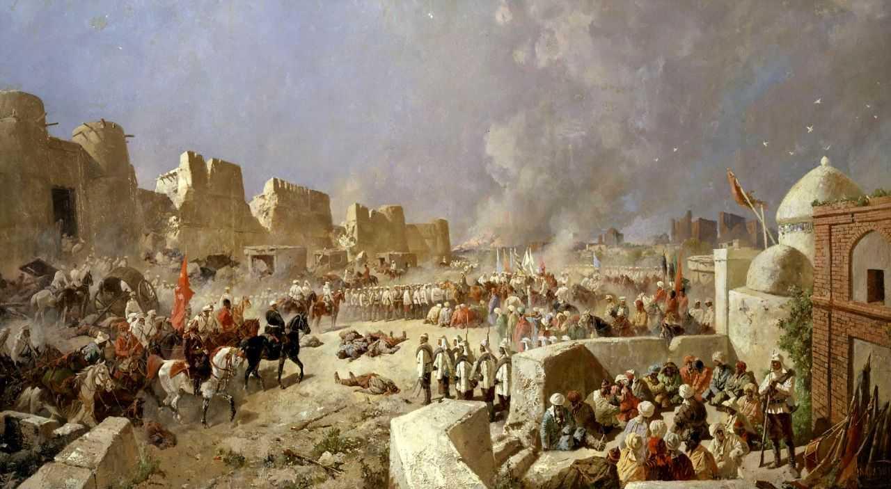 Вступление русских войск в Самарканд 8 июня 1868 года — Каразин Николай Николаевич