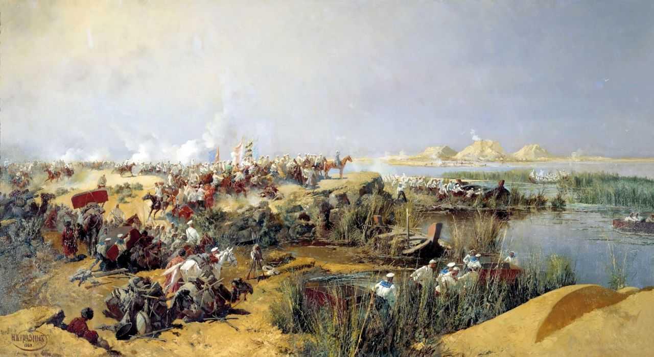 Переправа туркестанского отряда через Аму-Дарью в 1873 году — Каразин Николай Николаевич