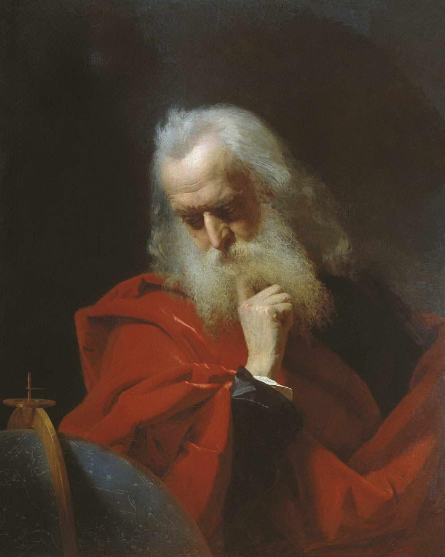 Галилей (Старик с глобусом). — Келер-Вилианди Иван Петрович