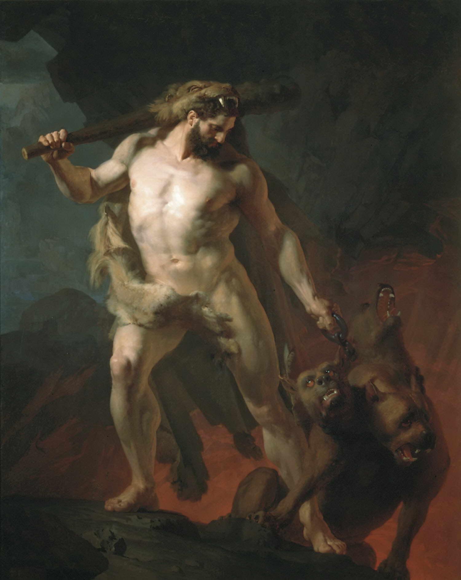Геркулес выводит Цербера из преисподней — Келер-Вилианди Иван Петрович