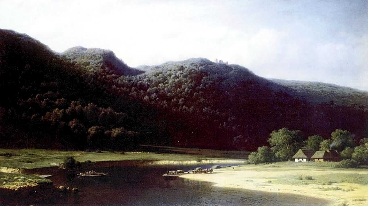 Долина реки Аа в Лифляндии — Клодт Михаил Константинович