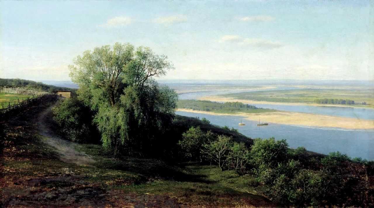 Волга под Симбирском — Клодт Михаил Константинович