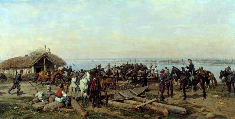 Переправа через Дунай — Ковалевский Павел Осипович