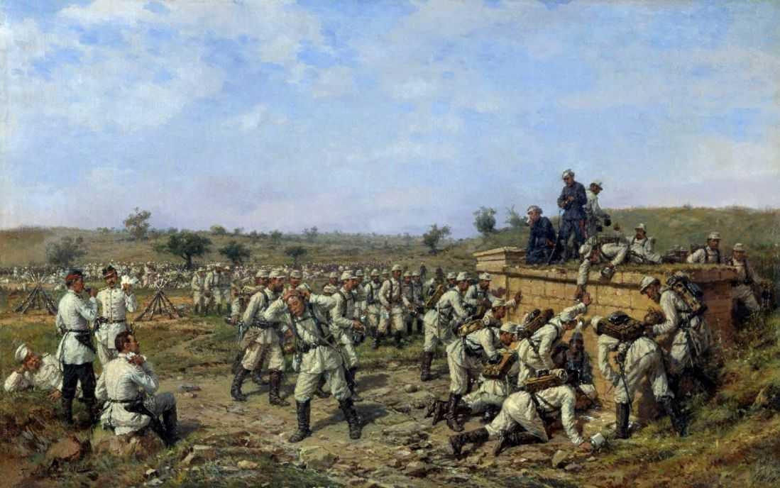 Привал 140-го пехотного Зарайского полка 35-й пехотной дивизии. 1877 год — Ковалевский Павел Осипович