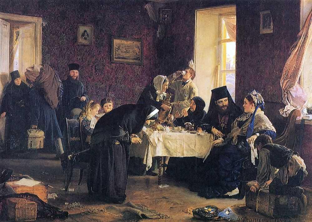В монастырской гостинице — Корзухин Алексей Иванович