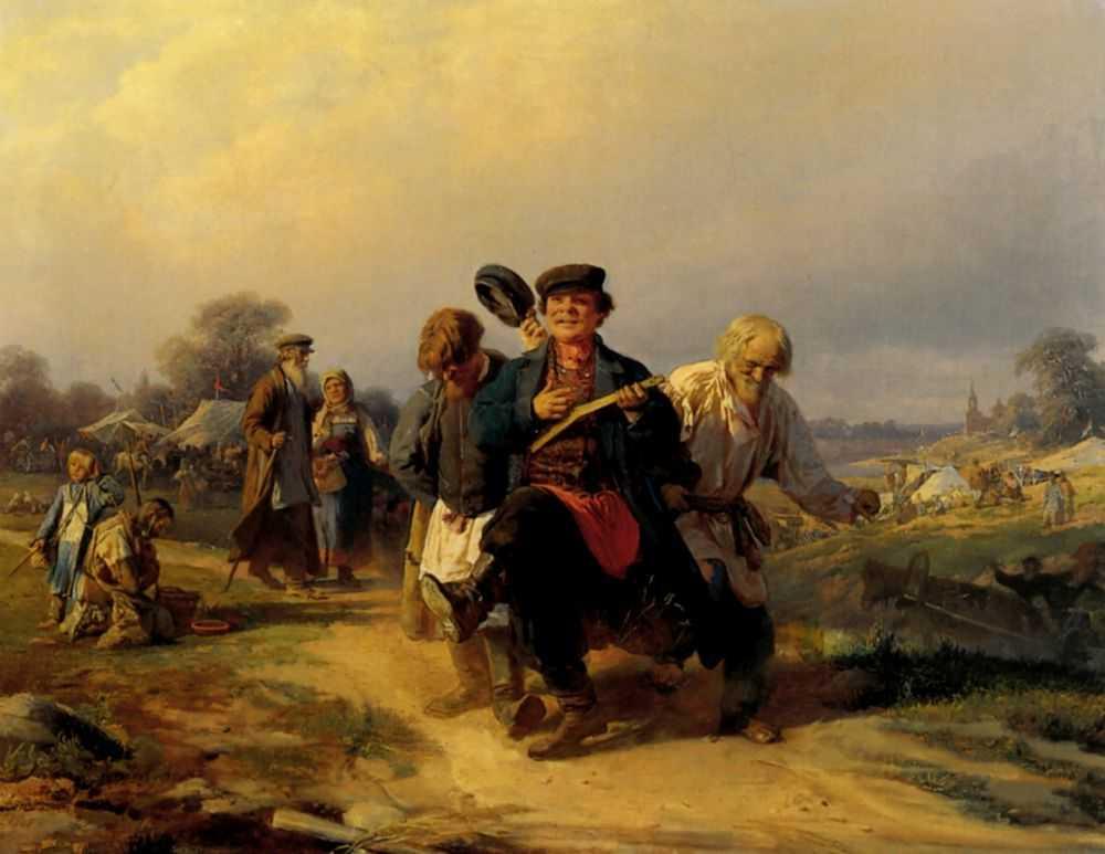 Возвращение с сельской ярмарки — Корзухин Алексей Иванович