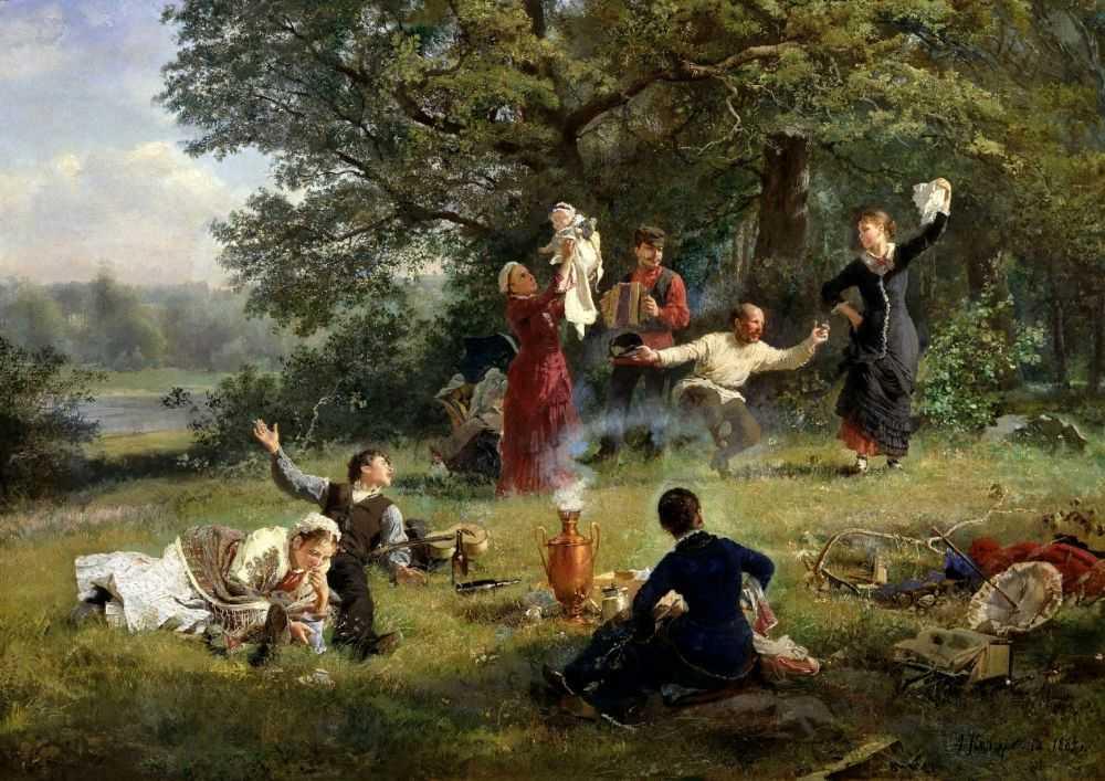 Воскресный день — Корзухин Алексей Иванович